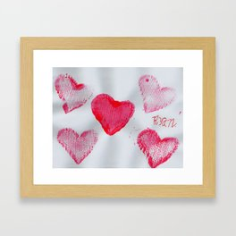 LOVE-ly Hearts Framed Art Print
