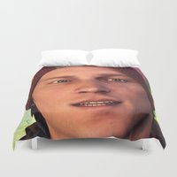 infamous Duvet Covers featuring InFamous: Second Son - Delsin Rowe by Felicia