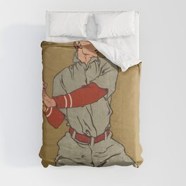 Baseball player by Edward Penfield Comforters