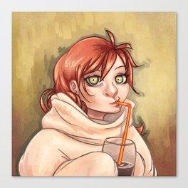 Chocolat chaud Canvas Print