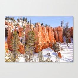 Winter Hoodoo Canvas Print
