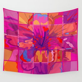 Abstract Flower in Cubes Wall Tapestry