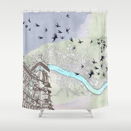 The redemption of memory Shower Curtain