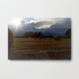 Autumn Colours illuminate the Harvest Metal Print