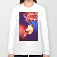 chandelier Long Sleeve T-shirts featuring Lady Chandelier by Ginger Del Rey