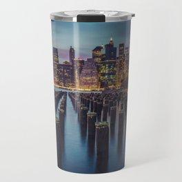 Brooklyn Blue Hour, New York City Travel Mug
