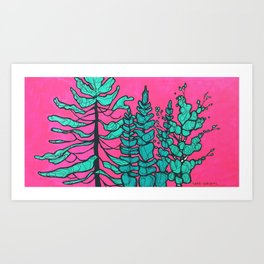 Hot Pink Sky Art Print
