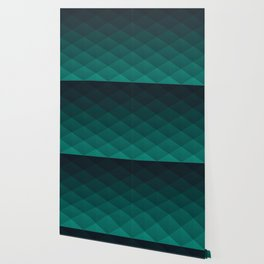 Graphic 949 // Grid Teal Fade Wallpaper