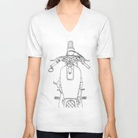 motorbike V-neck T-shirts featuring Motorbike by Jessica Slater Design & Illustration