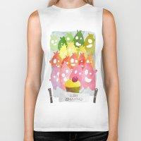 cupcakes Biker Tanks featuring Free Cupcakes by Konstantina Louka