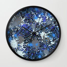 Action Painting No 42 By Chad Paschke Wall Clock