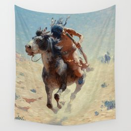 "William Leigh Western Art ""Indian Rider"" Wall Tapestry"
