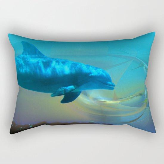 Happy Dolphin Rectangular Pillow
