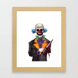 Smiley the Clown Framed Art Print