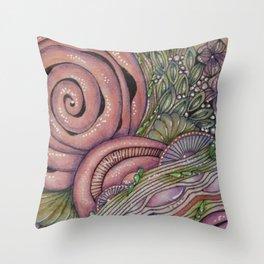 Pink Rosie Throw Pillow
