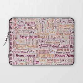 Basset Hound  Word Art pattern Laptop Sleeve