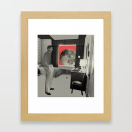 waiting for a call Framed Art Print