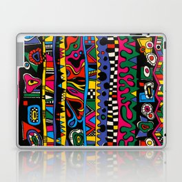 Hand Painted Street Style Print by Nettwork2Design - Nettie Heron-Middleton Laptop & iPad Skin