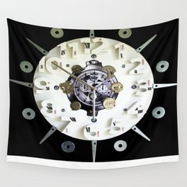 Altered Clock Wall Tapestry