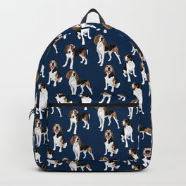 Treeing Walker Coonhounds on Navy Backpack