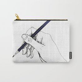 drawing hand Carry-All Pouch