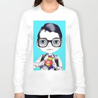 superman Long Sleeve T-shirts featuring superman by Studio de Shan