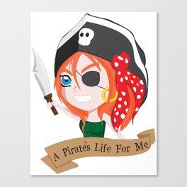 Life of a Chibi Pirate Canvas Print