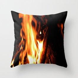 Summer Campfire Throw Pillow