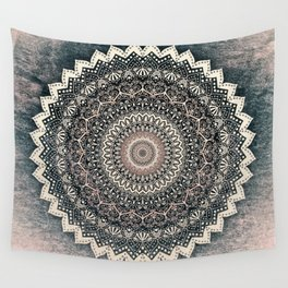 WARM WINTER MANDALA Wall Tapestry