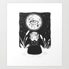 drowing in a swamp Art Print