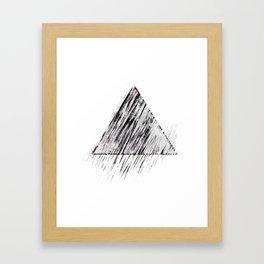 triangle no.2 / black Framed Art Print