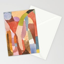 Movement Of Vaulted Chambers by Paul Klee 1915 Stationery Cards