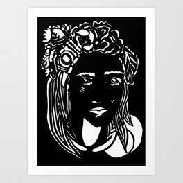 Paper Cut - Woman No. 1 --2 Art Print