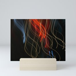 Abstract Drifting Light Trails Mini Art Print