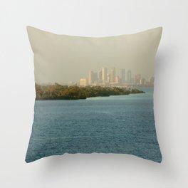 A Cities Coast Line Throw Pillow