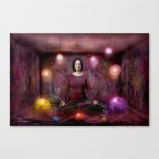 Woman in Meditation Canvas Print