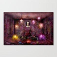 Woman in Meditation Canvas Print