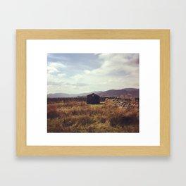 Abandoned Shed. Framed Art Print