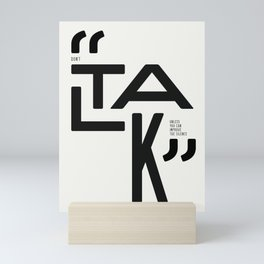 Talk Mini Art Print