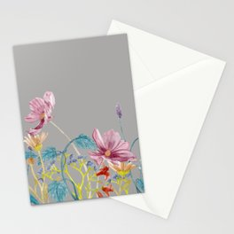 Floral Border - Mute Colours Stationery Cards