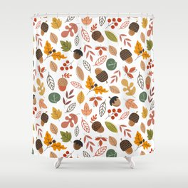 Hello Fall Pattern Shower Curtain
