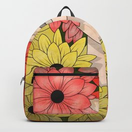 Flower Garden Girl Backpack