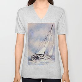 Sydney  to Hobart  Yacht Race        by Kay Lipton Unisex V-Neck