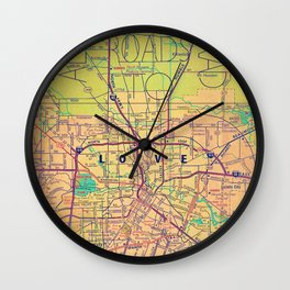 Love And All Roads To It Wall Clock