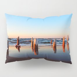 Reflected Remains on the Beach Pillow Sham