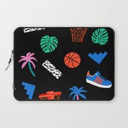 DITL - memphis art print, retro art print, wacka designs, basketball, socal art print, 80s Laptop Sleeve