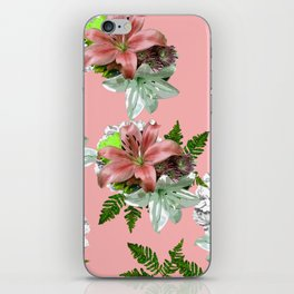 LILY PINK AND WHITE FLOWER iPhone Skin