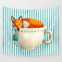 Fox Tea Wall Tapestry