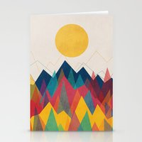 contemporary Stationery Cards featuring Uphill Battle by Picomodi