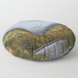 Mountain foliage in NH  Floor Pillow